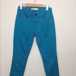 Levi's Skinny Fit Teal Pants Sz 28